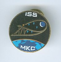 Expedition 14 ISS International Space Station Mission Lapel Pin Official NASA